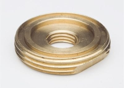 Precision Machined Brass Nut - Avanti Engineering