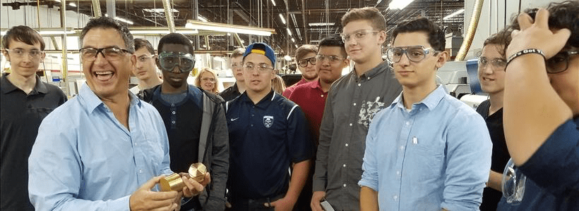 Student Facility Tour at Avanti Engineering