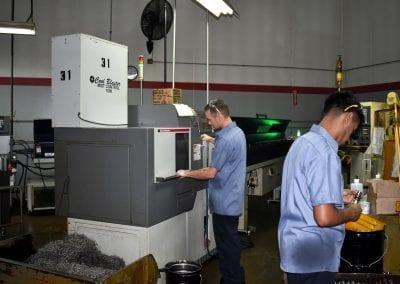 CNC operators at Avanti Engineering